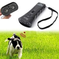 Ultra-sônica Dispositivo de Treinamento Defletor Cão Parar de Latir para Parar de Corredores Caminhantes Animal Agressivo Ataques com Lanterna LED