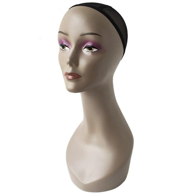 CAMMITEVER tête de Mannequin en fibre de verre pour femmes noires perruque affichage tête de Mannequin noir perruques pratique