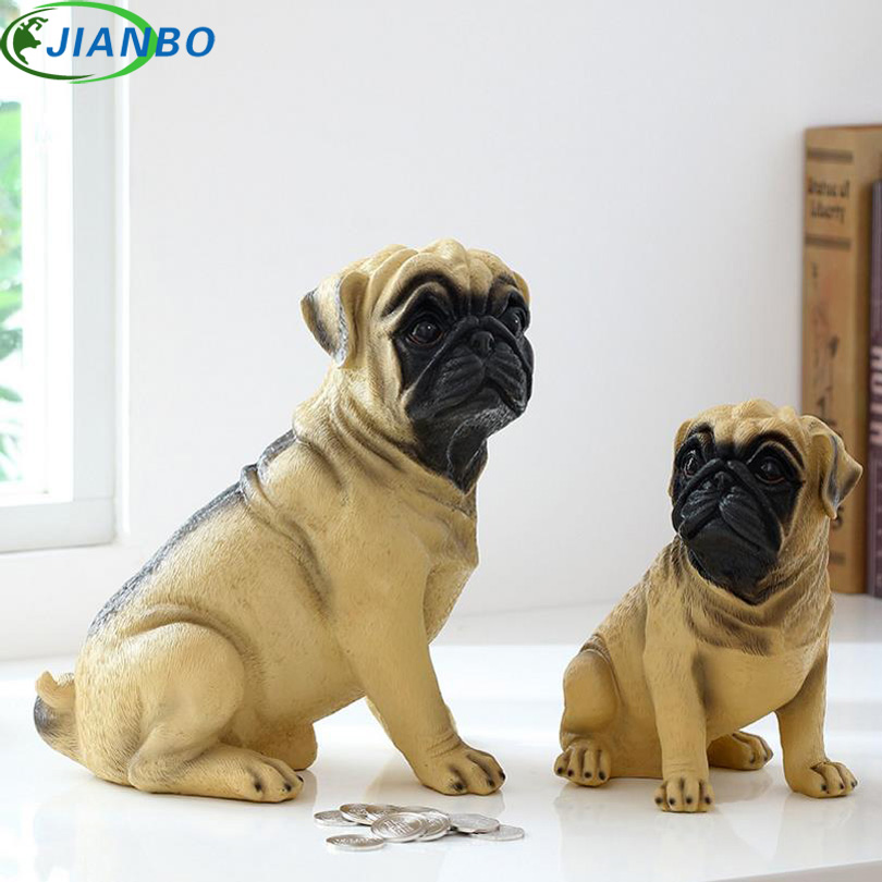 Exquisite Michief Pug Dog Save Coin Money Box Life Cute Dog Piggy Bank Desk Ornament High Quality Resin Decor Present For Friend автомобильный видеорегистратор save box