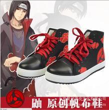 Naruto Akatsuki Uchiha Itachi Red cloud casual mens womens canvas japanese Sport shoes