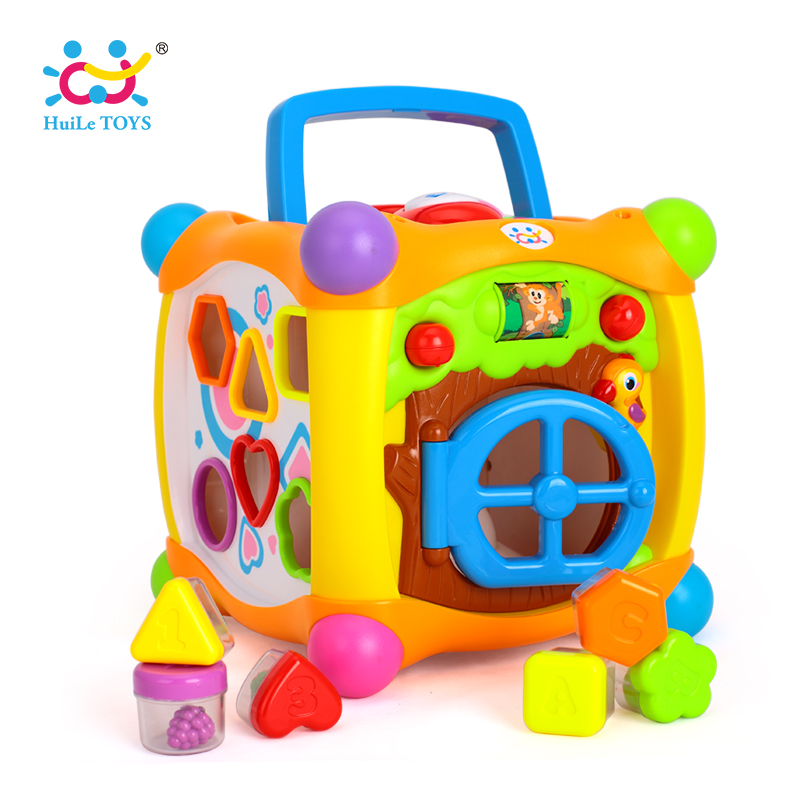 HUILE TOYS 936 Kids Activity Alphabet Cube Baby Play Toy 13 Stackable Blocks Learning Baby Infant Toddler Music Game Toys Gifts pretend and play doctor set little doctor kids baby toddler children junior doctor nurses medical set kit role play toy