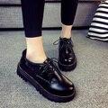 Плоские Оксфорд Обувь Квартир Женщин Новая Осень 2016 Женская Мода Обувь Повседневная Плоские Туфли Sapatos Femininos Sapatilhas Zapatos Mujer
