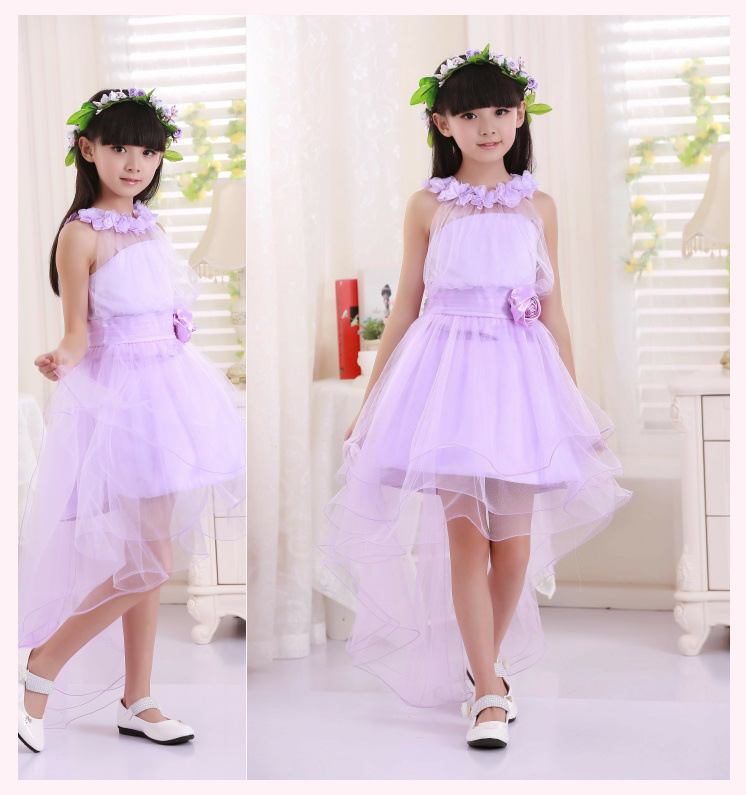 Little girl summer princess wedding party tulle dress toddler kids ...