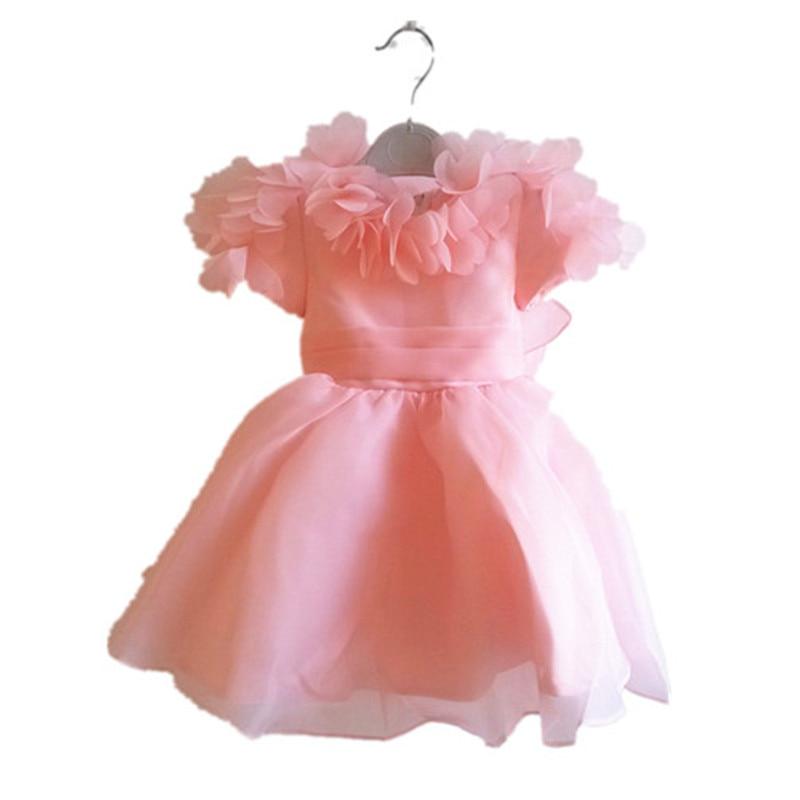 BBWOWLIN Pink Baby Flower Girl Dresses for Weddings Christmas Birthday Christmas for Girl Kids Princess Dress 80104 коньки maxcity caribo combo girl 26 29 pink