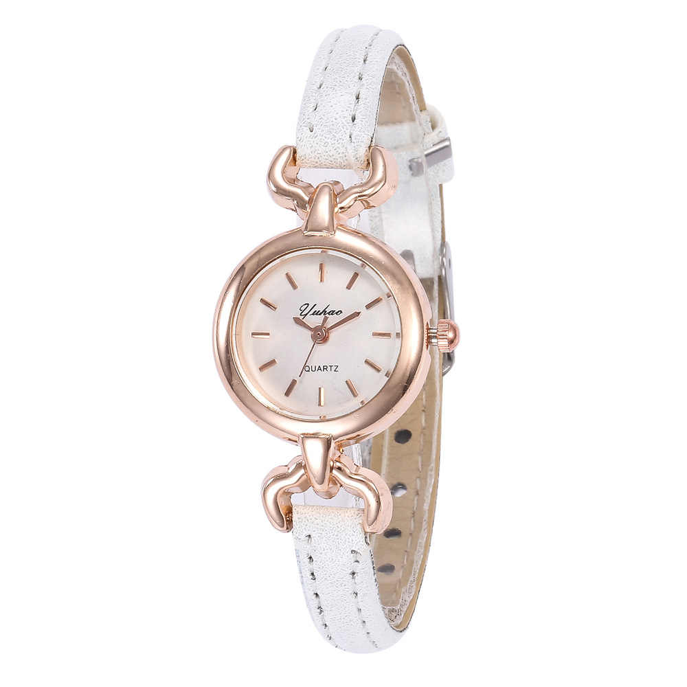 נשים שעונים 2019 באיכות גבוהה קטן חיוג עור שעונים רוז זהב גבירותיי קוורץ שעון יד Hodinky Montre Femme Reloj Mujer