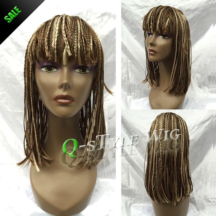 Hot Sale Medium Length Synthetic Braiding Hair Full Wig