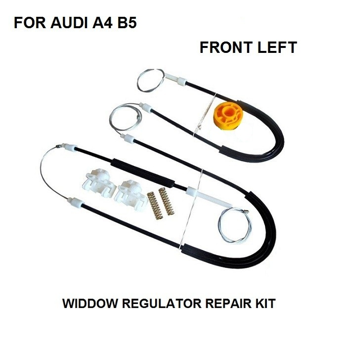 US $25 99 |FREE SHIPPING OE#8D0837461 CAR PARTS FOR AUDI A4 B5 WINDOW  REGULATOR REPAIR KIT FRONT LEFT 1994 2001 NEW-in Window Lever & Window  Winding