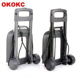 OKOKC Reise Zubehör 2 Rad Rollwagen Abnehmbare Trolley Kinder Schultasche Gepäckwagen für Mädchen und Jungen