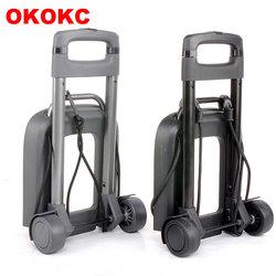 OKOKC voyage accessoires 2 roues chariot roulant amovible chariot enfants cartable bagages chariots pour filles et garçons