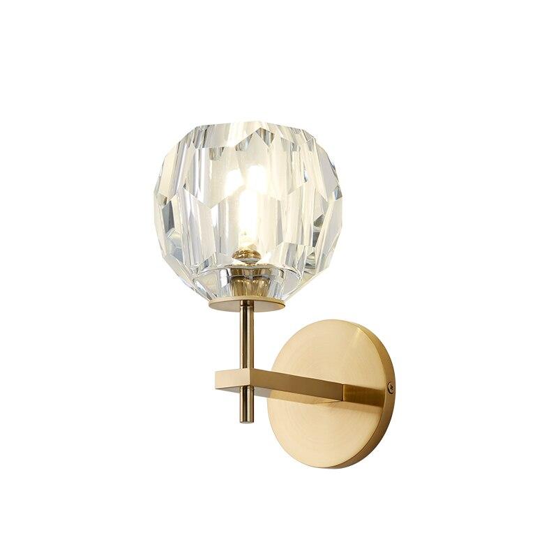 Modern Luxury de Cristal Parede Scone G9 CONDUZIU a Lâmpada de Parede para Sala de estar Quarto Luz Projeto Luz Interior Luminárias de Parede Em Casa art Decor - 5