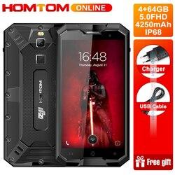 HOMTOM ZJI Z8 IP68 Waterproof 4GB 64GB Smartphone MTK6750 Octa Core 5.0 Inch Android 7.0 4250mAh 13MP Fingerprint Cellphone