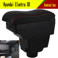 For Hyundai Elantra XD armrest box central Store content Storage box with cup holder ashtray USB interface