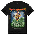 Mens T Shirts Moda 2017 Verano Iron Maiden Skull Imprimir Heavy Metal Rock Hip Hop Punk Botín Hipster Camisetas Anime