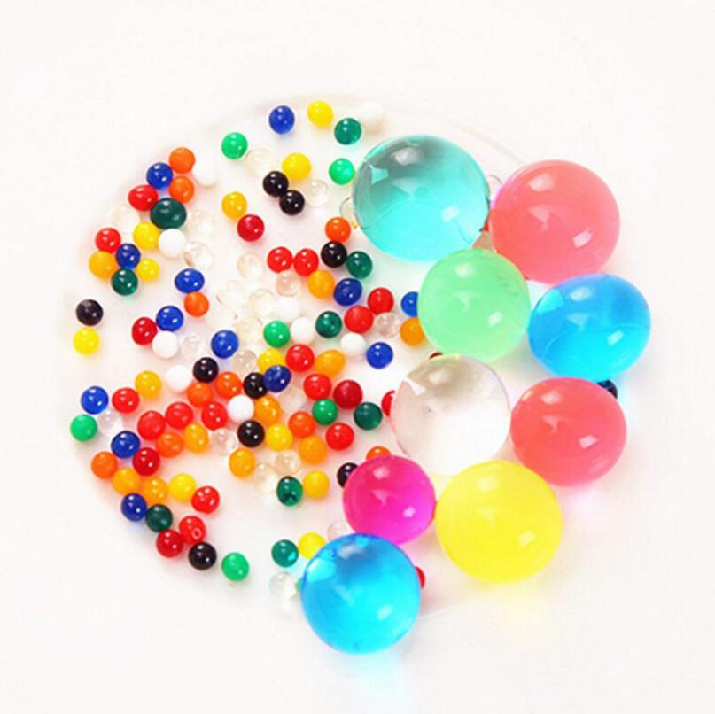 Colored Toy Shooting Soft Crystal Water Paintball Gun Bullet 300pcs/lot Grow Water Beads Balls Water Gun Toys 2-3mm