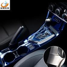 Автомобильный Стайлинг рамка держателя стакана воды крышка шестерни Панель ручного тормоза крышка перчаточного ящика наклейки отделка Подходит для Corolla Lewin-17