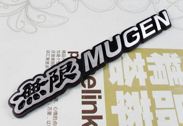 Алюминиевого сплава авто Черный Mugen для Civic Accord с С2000 СГ-V эмблема знак стикер