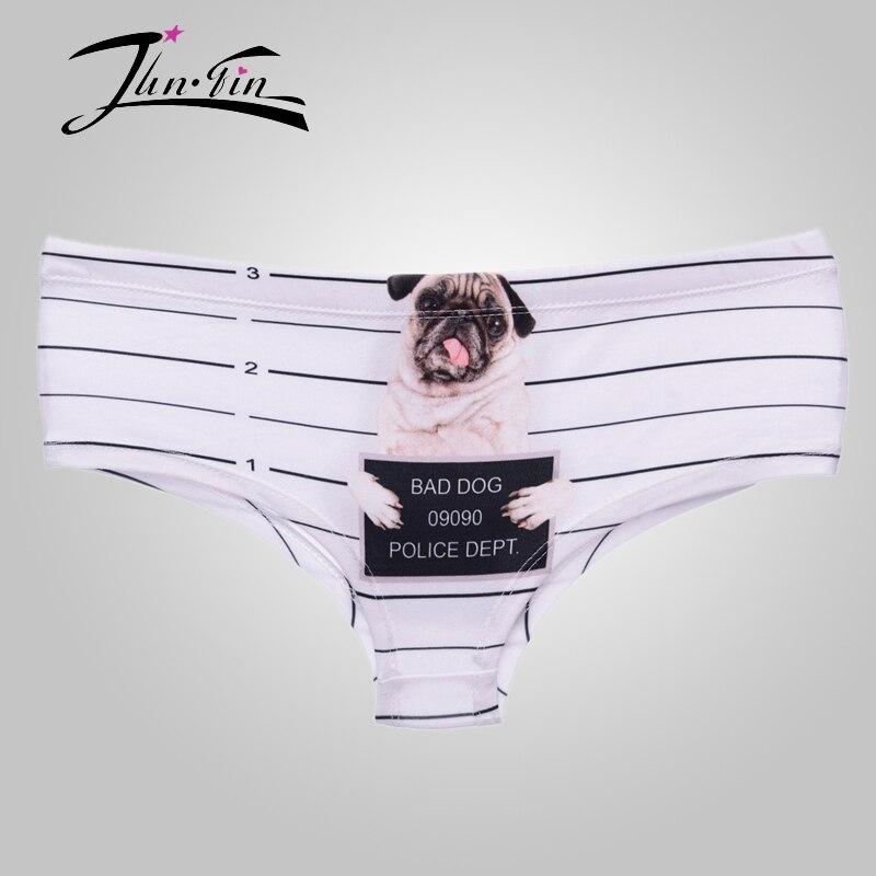 37c886f305e9 ̀ •́ Bragas sexy 3D estampado pug cárcel perro ropa interior mujer ...