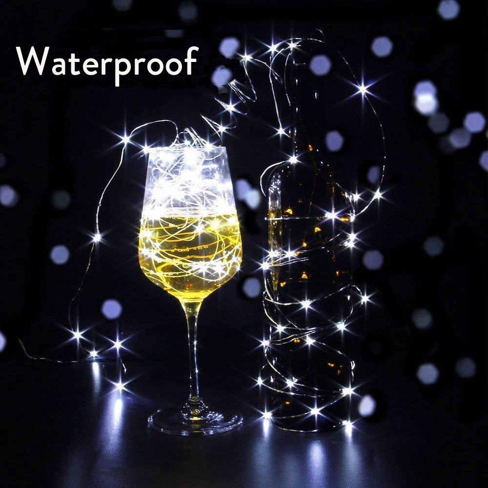 1M 2M 3M fil de cuivre LED guirlandes lumineuses CR2302 batterie vacances éclairage fée guirlande pour arbre de noël décoration de fête de mariage
