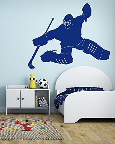 Giocatore di hockey goalie adesivi Murali puck sport team gioco ...
