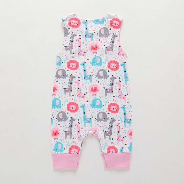 2019 New Baby Newborn Kids Toddler Boys Girls Clothes Sleeveless Short and Long Romper Floral Elephant Jumpsuit Playsuit Sunsuit 2