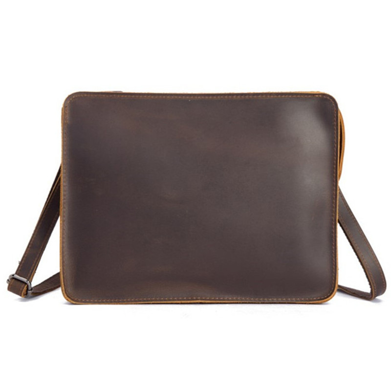 Cowhide Luxury Brand Genuine Leather for Men Laptop Briefcas