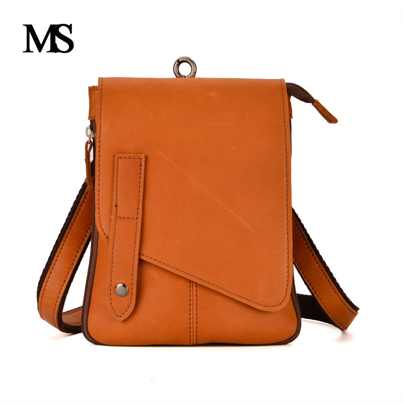 MS High Quality Brand 100% Genuine Leather Men's Crossbody Bag Casual Business Leather Mens Messenger Bag Vintage Men Bag TW2015 new casual business leather mens messenger bag hot sell famous brand design leather men bag vintage fashion mens cross body bag