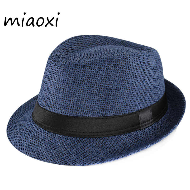 ed2f321a354f miaoxi New Fashion Kids Sun Hat For Boys Summer Caps Casual Straw Caps  Children Solid Colors