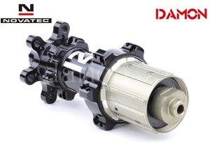 Image 4 - Tajwan Novatec D411SB D412SB 24H drogowe hamulce tarczowe piasty rowerowe Quick Release lub przez oś 12*100mm 12*142mm przód i tył