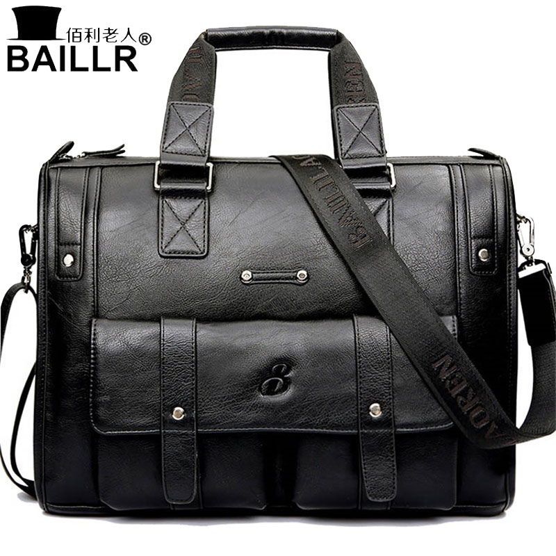 цены BAILLR Brand Man Bag Black Briefcase Men Business Handbag Messenger Bags Male Vintage Men's Shoulder Bag Large Capacity 2018new
