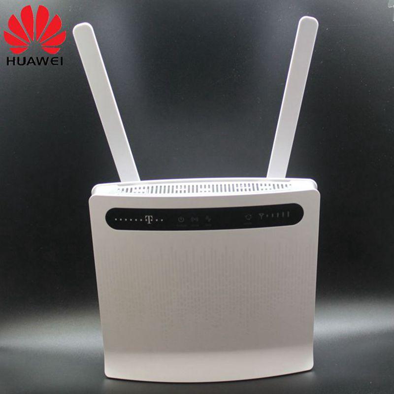 Débloqué Huawei routeurs sans fil B593 B593s-12 B593u-12 4G LTE routeur (plus antenne) avec Sim CardSlot 4G LTE WiFi routeur PKB310
