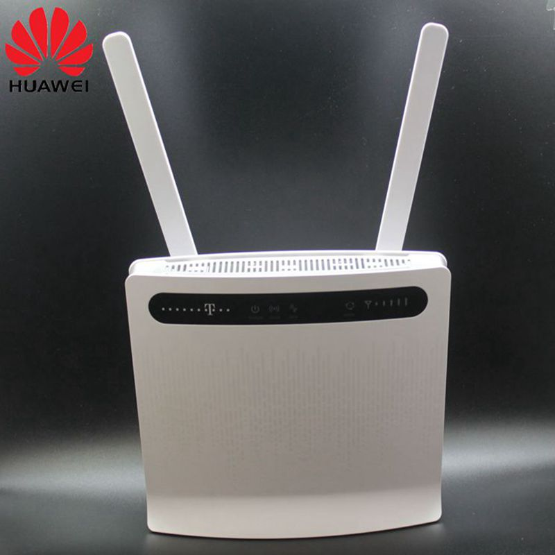 Unlocked Huawei B593 B593s-12 Plus Antenna 4G LTE 150Mbps CPE Router with Sim CardSlot 4G LTE WiFi Router with 4 Lan Port PKB310