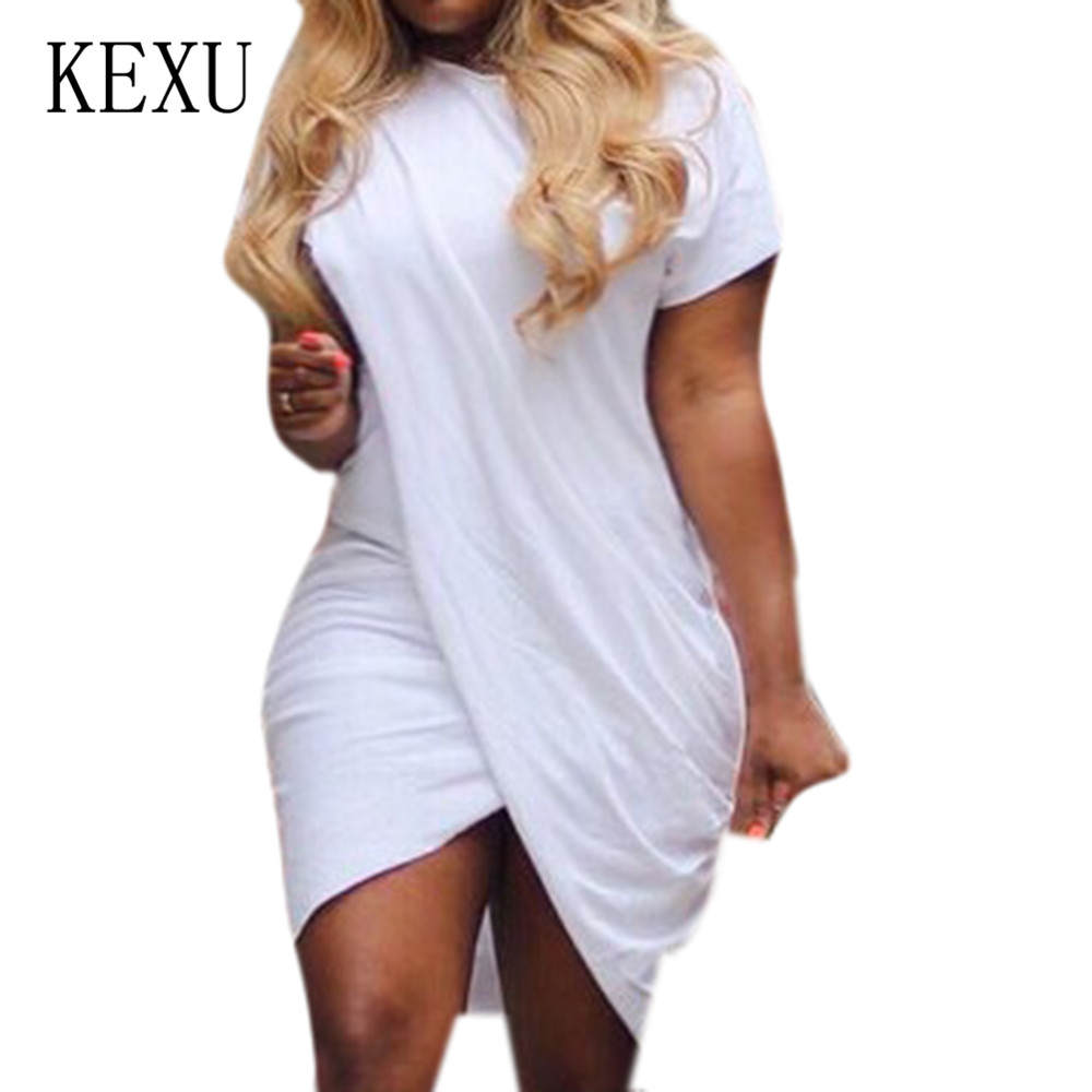 KEXU Plus Size 3XL Women O neck Short Sleeve Vintage Mini Dress New Tie Dyed Print Sexy Dress Femme Hollow Out Retro Club Wear in Dresses from Women 39 s Clothing