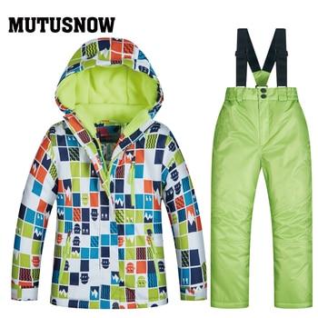 b0f3cedfd4ae 2019 traje de esquí niños las marcas de alta calidad ropa de esquí a prueba  de viento impermeable niños niñas pantalones de nieve caliente niño ...