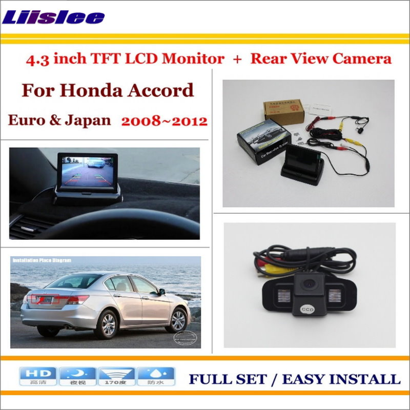 Liislee For Honda For Accord Euro Japan 2008 2012 Back UP Reverse Camera 4 3 LCD