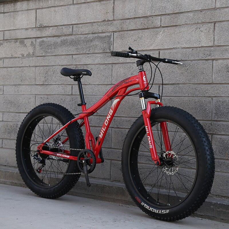 Haute qualité 7/21 vitesse absorption des chocs vélo 20*4.0 Fatbike garçons et filles neige plage vélo gros vélo route vélo livraison gratuite