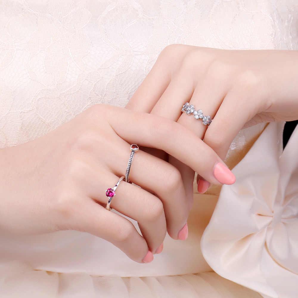 JewelryPalace แก้วสีแดง Murano แหวน 925 เงินสเตอร์ลิงแหวนเงินผู้หญิงแหวนวงเงิน 925 เครื่องประดับ Fine เครื่องประดับ
