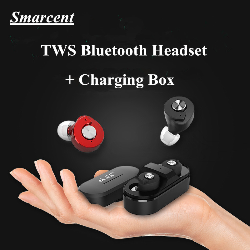 TWS Bluetooth Headset High Quality Twins Wireless Stereo Bluetooth Earphone Headphones Earbuds +Charging Socket for iphone 5 6 7 wireless headphones bluetooth earphone suitable for iphone samsung bluetooth headset 4 2 tws mini microphone
