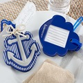 100pcs/Lot+Honeymoon Trip Favors Rubber Anchor Luggage Tag Beach Themed Wedding Favor &Gift Present For Customer+FREE SHIPPING