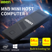 Bben Мини-ПК Окна 10 Intel мини-компьютер stick ТВ Box HDMI 4 ГБ + 64 ГБ Bluetooth4.0 Wi-Fi HDMI Процессор Z8350 Quad Core stick mini pc