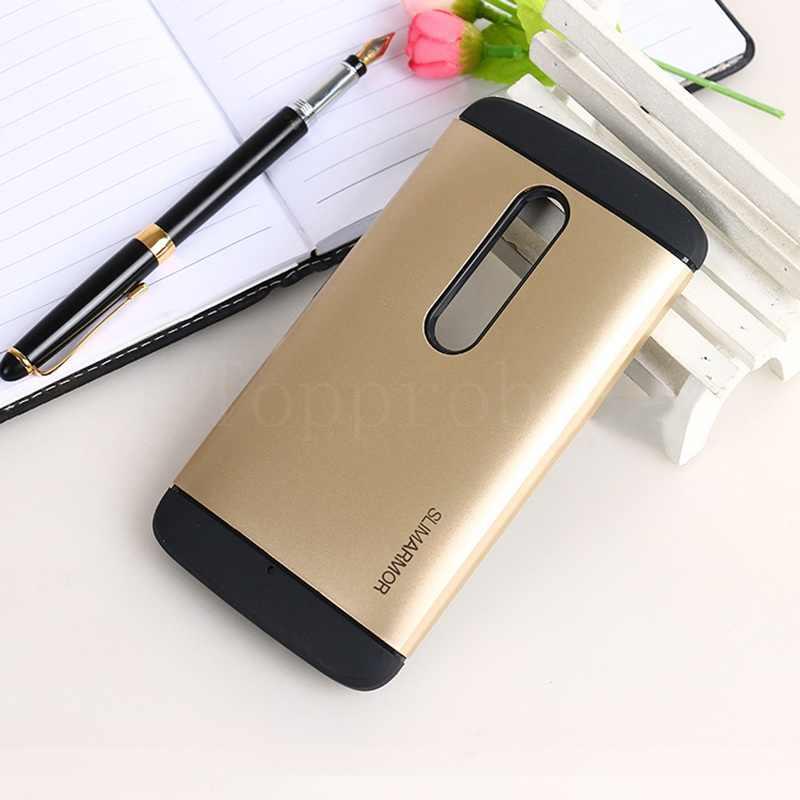 """デュアル層アンチノックのためのモトx再生XT1561 XT1560 5.5 """"携帯電話の保護シリコンカバー + 1 個ギフトフィルム"""