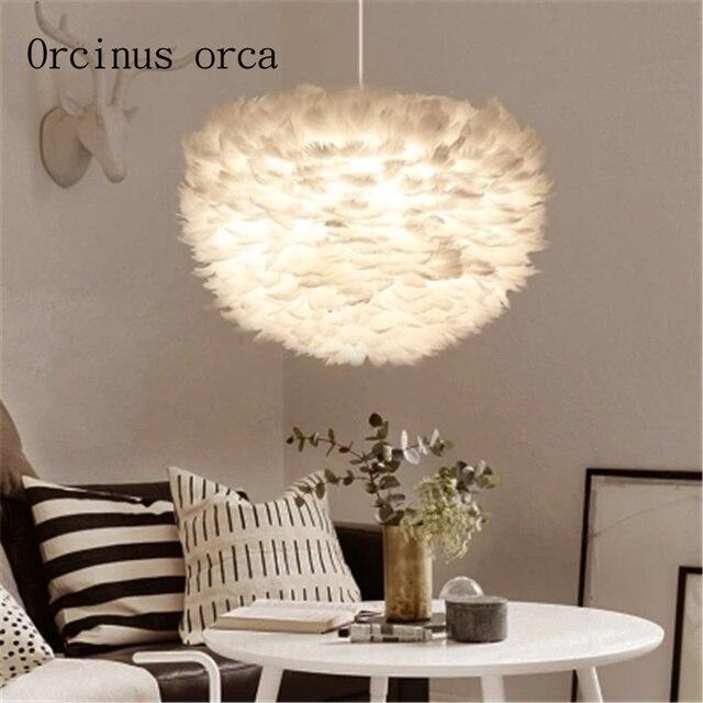 Nordic moderno e minimalista creativo lampadario camera da letto ...