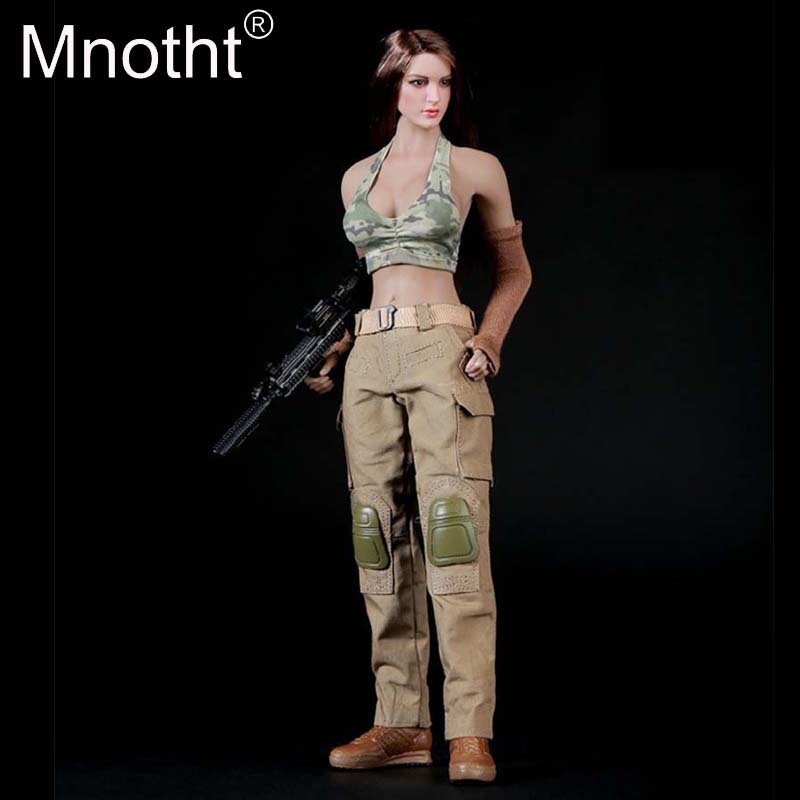 <font><b>1/6</b></font> <font><b>Scale</b></font> <font><b>Female</b></font> <font><b>Clothes</b></font> FG004 Military Combat Clothing Suits Model for 12in Phicen Body Model Action Figures collections m3n image
