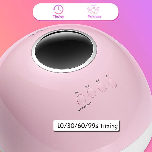 72W UV LED Lamp Gel Nail Lamp Nail Dryer For Nails All Gel Polish Sensor Sun Led Light Nail Art Manicure Tools