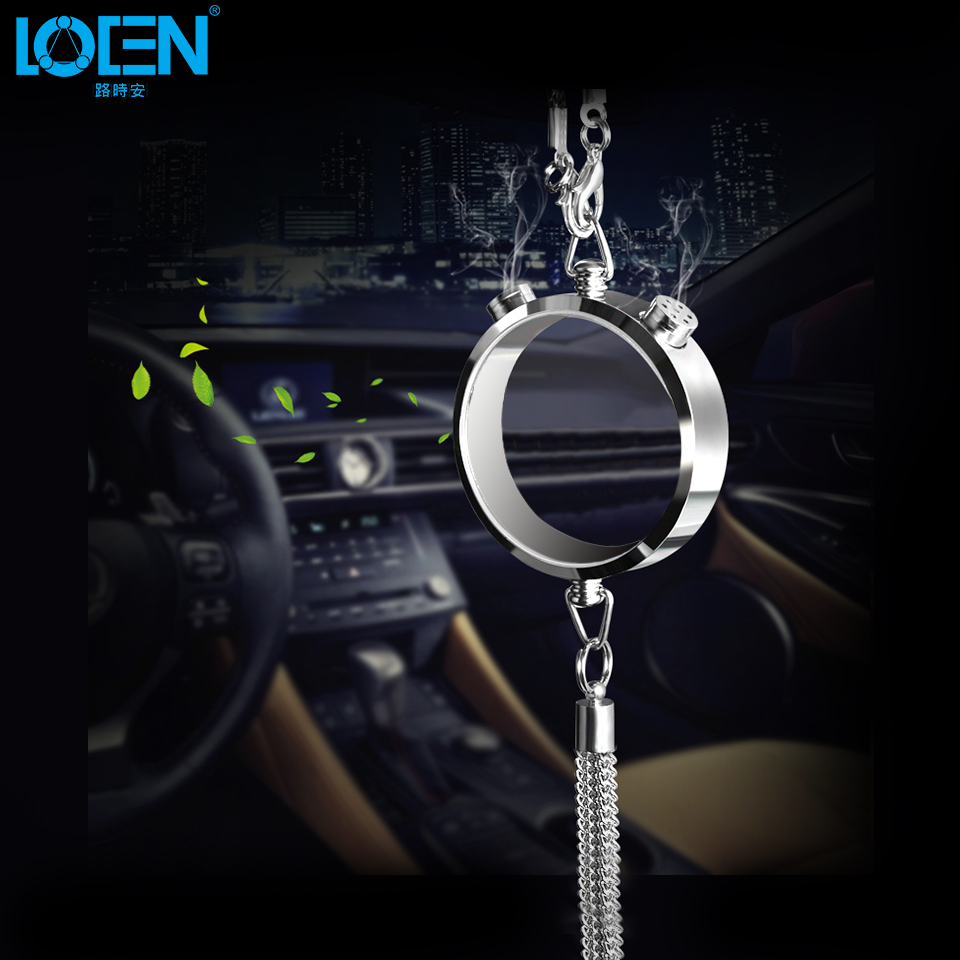 1pcs car styling interior decoration rearview mirror ornaments fox kirin gold silver perfume. Black Bedroom Furniture Sets. Home Design Ideas