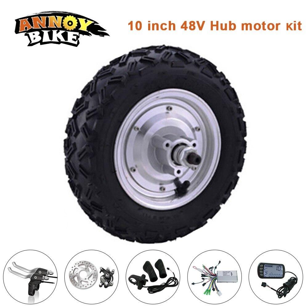 Scooter motor wheel 10 inch 48v 350w 500w 12 40km h hub for 500w hub motor kit
