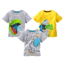 Emmababy 2019 Hot Sale New Kids Clothes T-Shirts Short Sleeve arrival Novelty Cartoon Print O-Neck Boys 3 Kinds