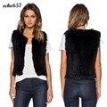 New Fashion Women Coat Echo657 Hot Sale Casual Warm Women Vest Sleeveless Coat Outerwear Hair Waistcoat Dec 21