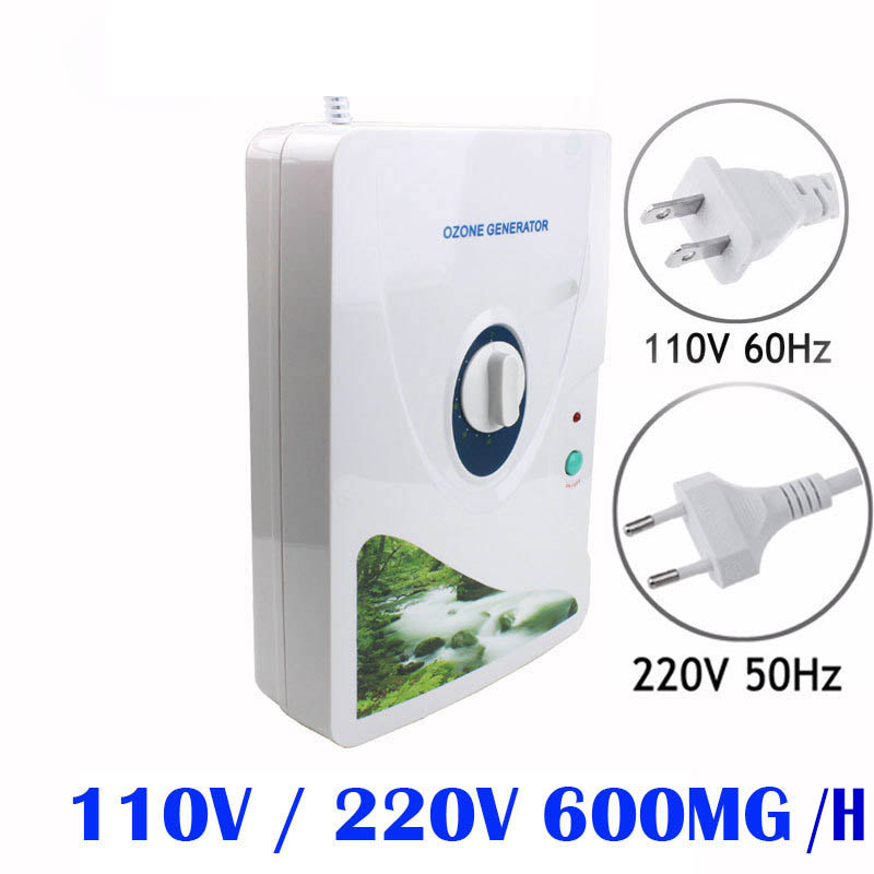 Household Ozone Generator Air Purifier 110V 220V Portable Oxygen Concentrator Ozonizador Ozonio Ozonator Purificador De Aire