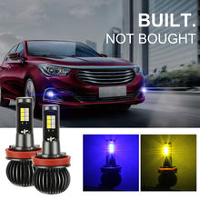 Blue/Yellow LED Light CSP Bulb Dual Color Kit For Fog Light 1 Pair Energy saving Applicable to most(China)