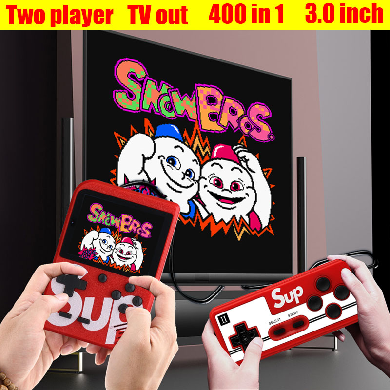 Sup Portable Video Handheld Game Console Retro Classic Mini Game Machine  Built-in 300 Classic Game red without gamepad 1